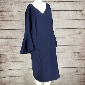 NEW Belle by Kim Gravel L Sheath Dress Bell sleeve
